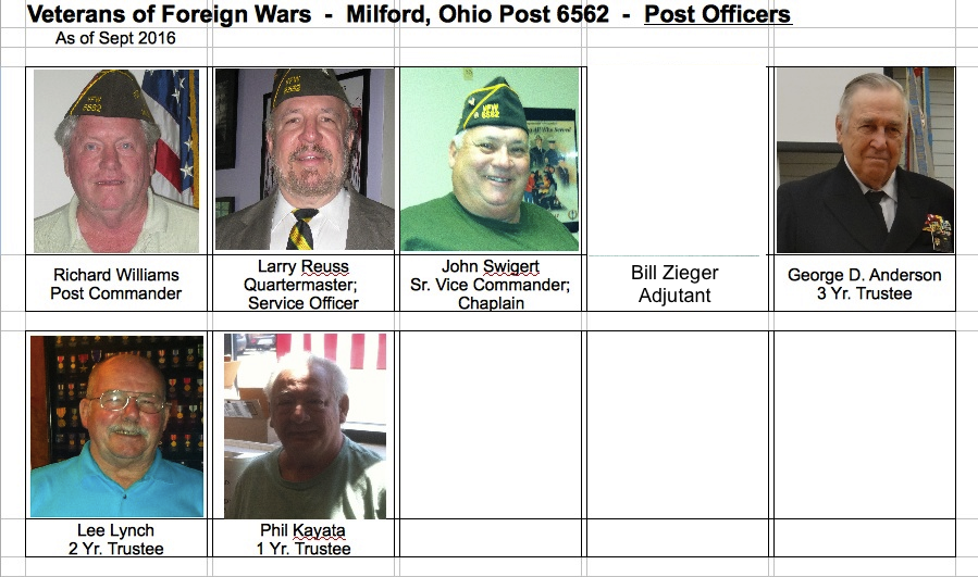 Bill Zieger Jr. Vice Commander      Adjutant